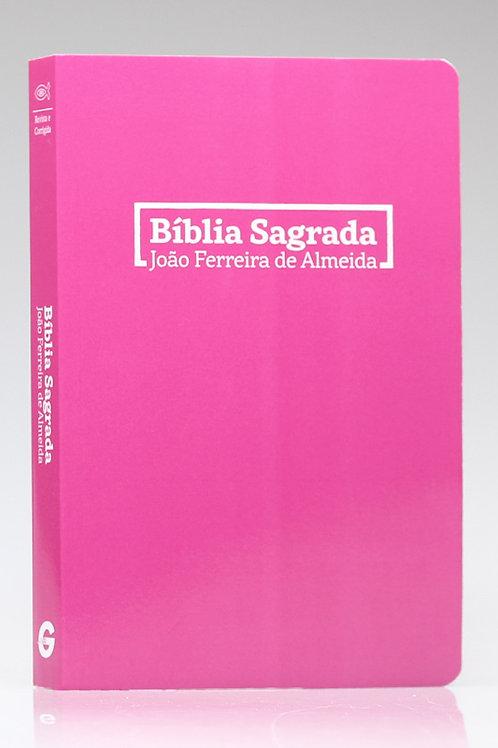 Bíblia ALmeida Revista e Corrigida Brochura Rosa