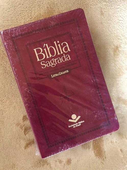 Bíblia Letra Gigante com índice Revista Corrigida Pink