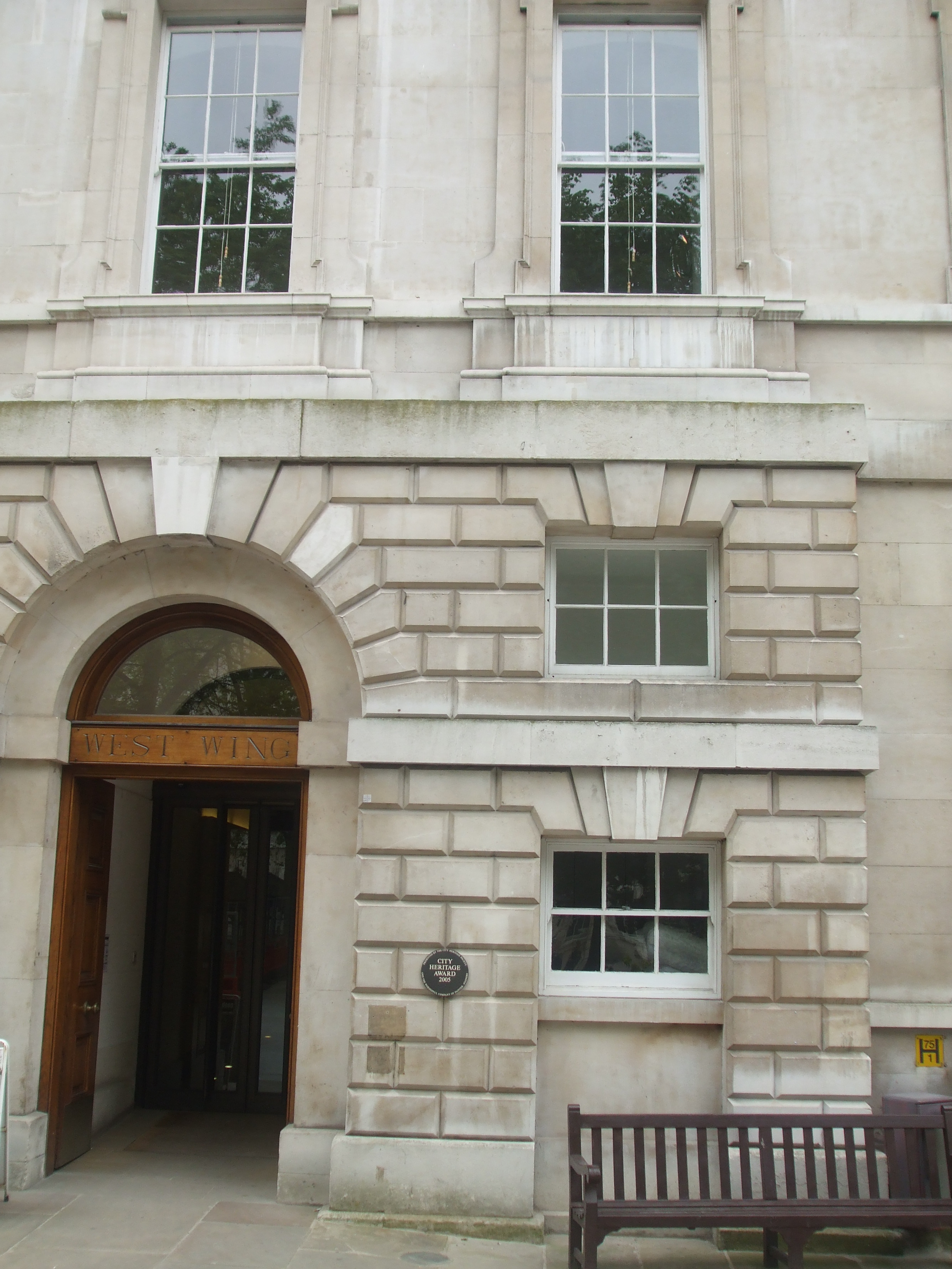 ST BART'S WEST WING ENTRANCE
