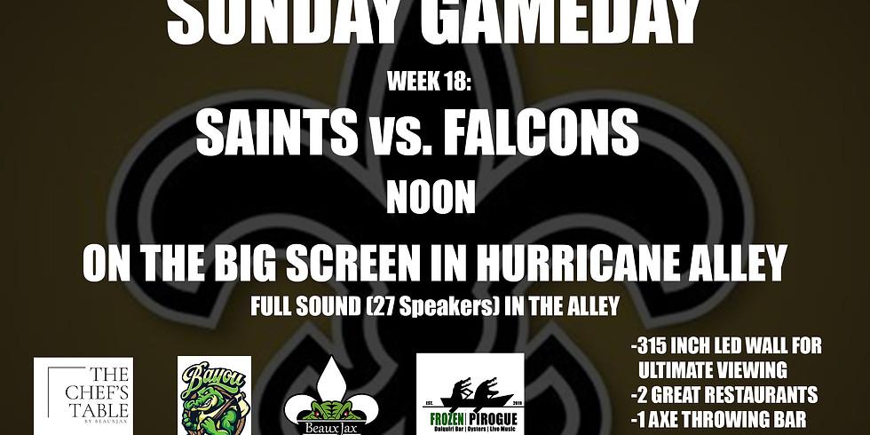 SUNDAY GAMEDAY: SAINTS vs. Falcons