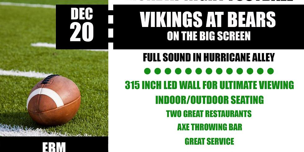 MONDAY NIGHT FOOTBALL: Vikings vs. Bears