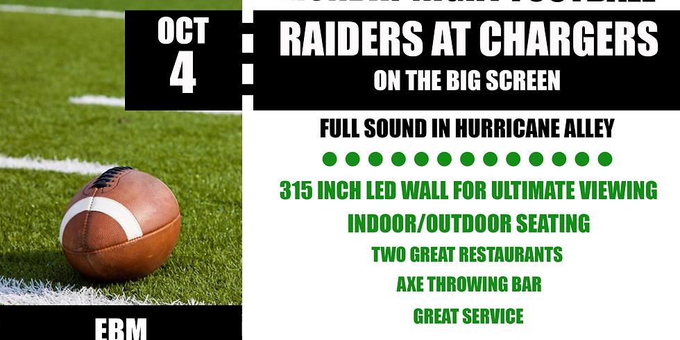 MONDAY NIGHT FOOTBALL: Raiders vs. Chargers