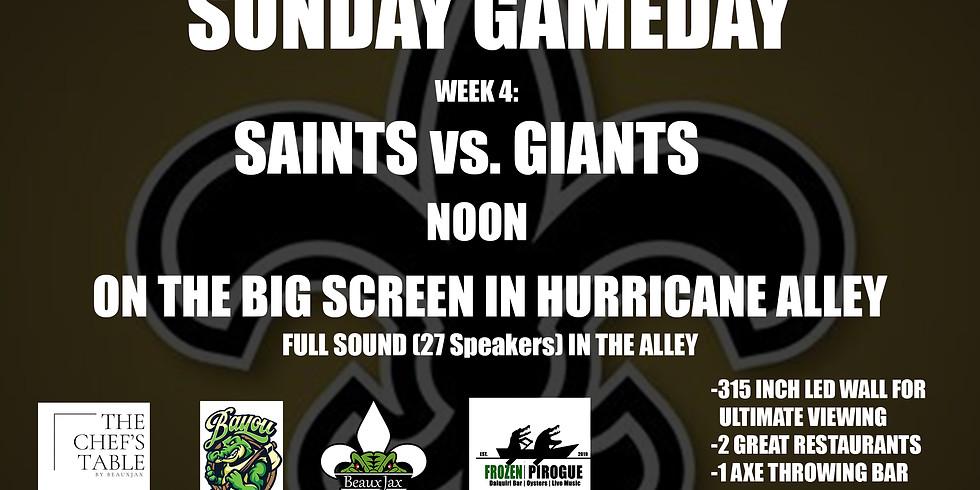 SUNDAY GAMEDAY: SAINTS vs. Giants