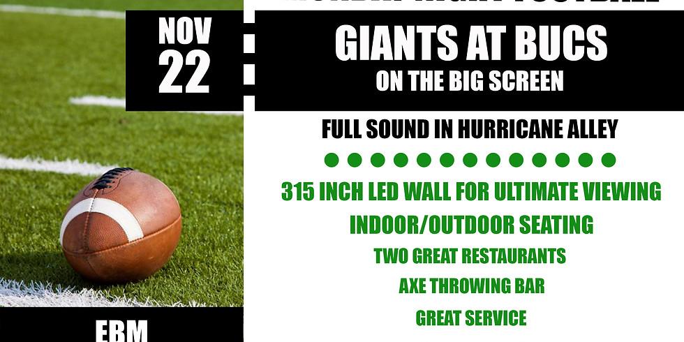 MONDAY NIGHT FOOTBALL: Giants vs. Bucs