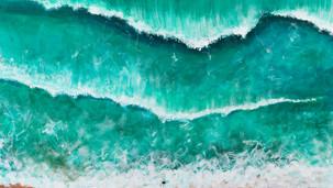Lone surfer Algarve