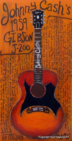 Johnny Cash Gibson J-200