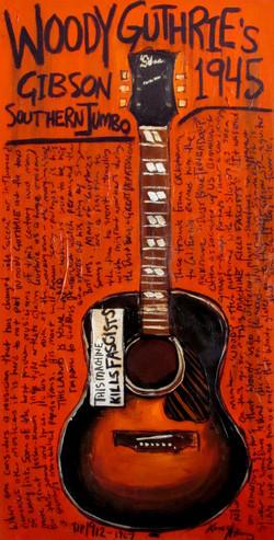 Woody Guthrie Acoustic guitar