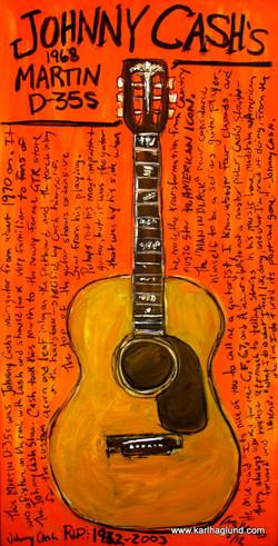 Johnny Cash Martin Acoustic Guitar