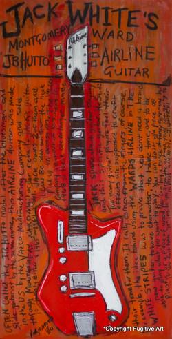 Jack White Airline Guitar Art