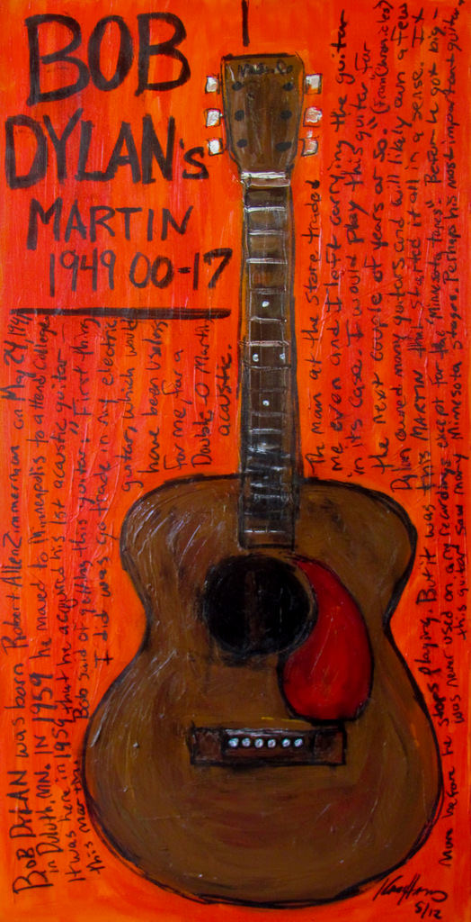 Bob Dylan Painting of Guitar