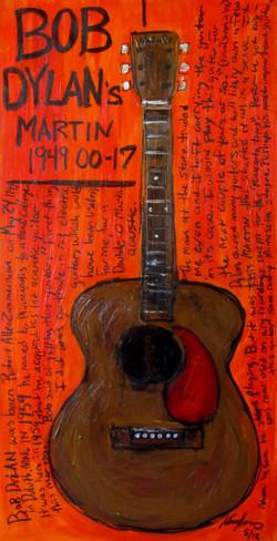 Bob Dylan Painting of Guitar