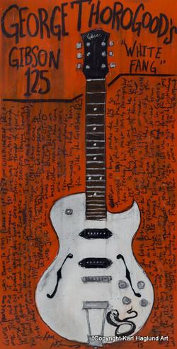 George Thorogood Guitar Painting