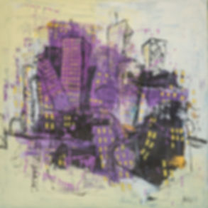Contemporary abstract cityscape