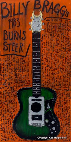 Billy Bragg Guitar Art