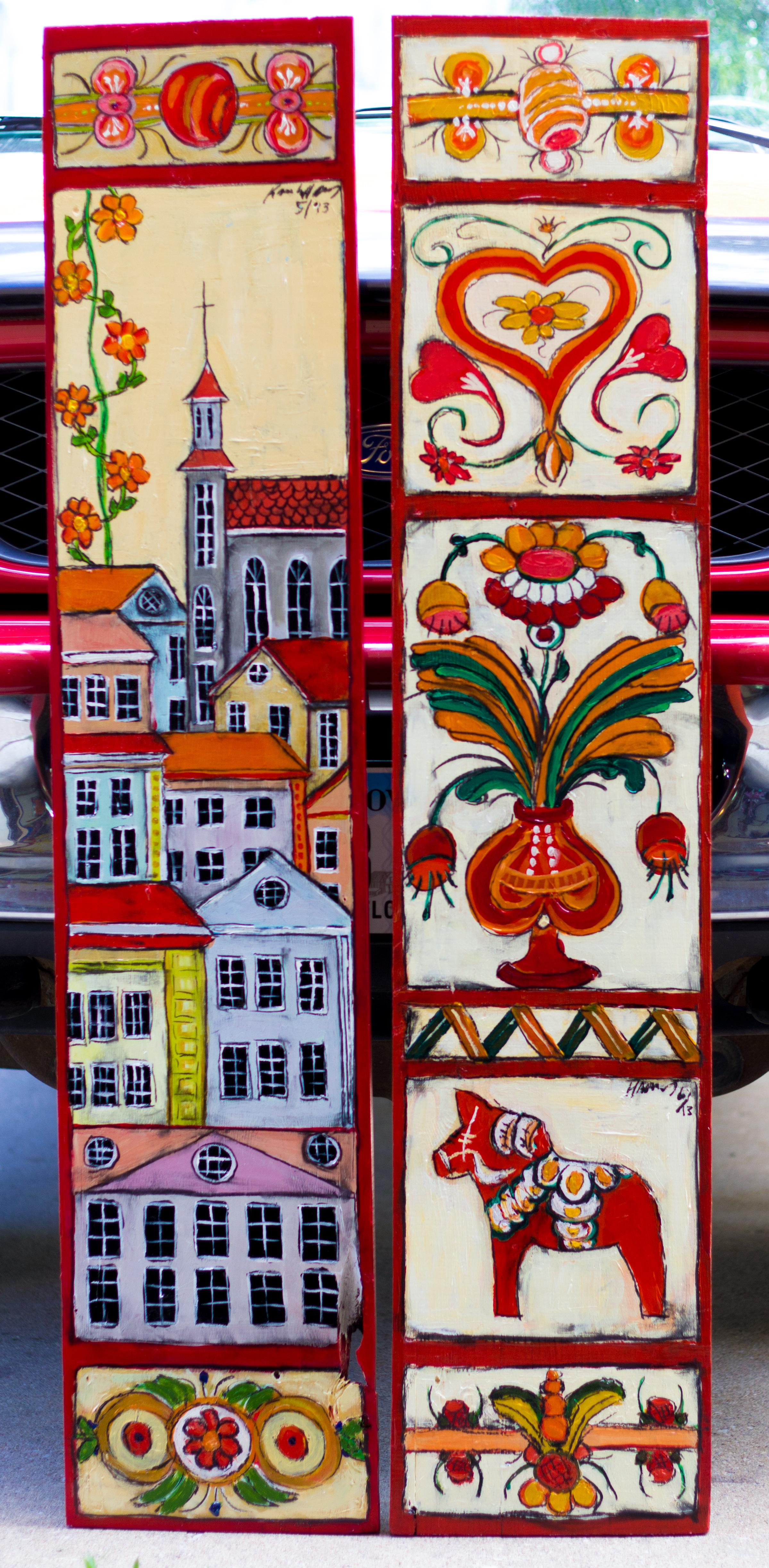 Swedish Folk Art paintings
