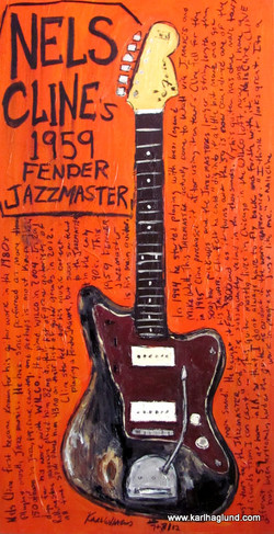 Nels Cline's Jazzmaster Guitar Art