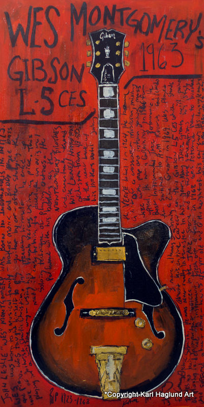 Guitar Painting Wes Montgomery