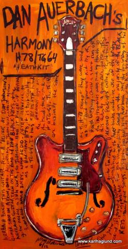 Guitar Painting Dan Auerbach