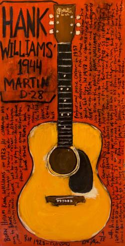 Hank Williams acoustic guitar art