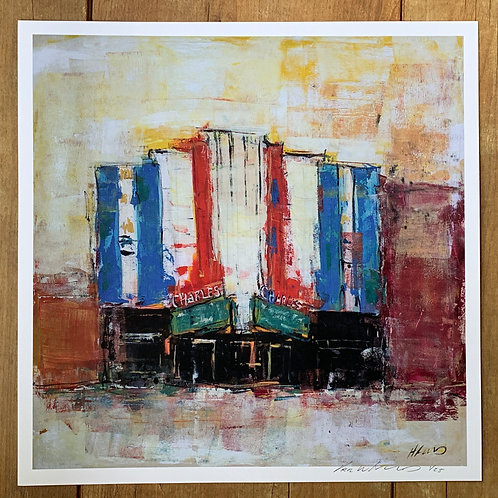 """Charles Theater Art Print 