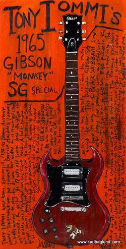 Guitar Art Tony Iommi SG
