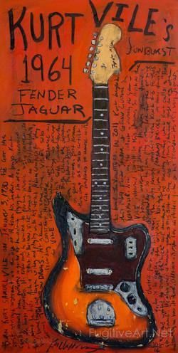 Kurt Vile Jaguar Guitar Painting