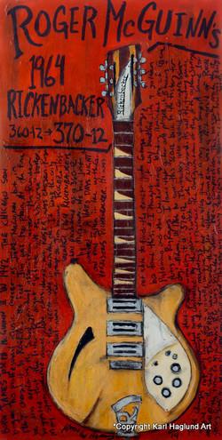 Guitar Painting Roger McGuinn