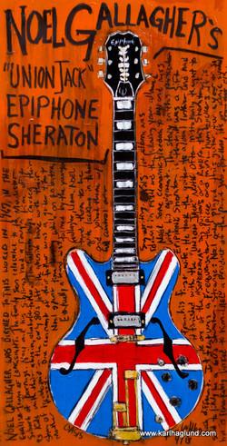 Noel Gallagher Union Jack Epiphone