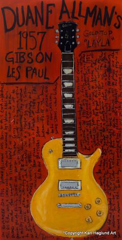 Duane Allman Les Paul Goldtop Art