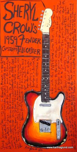 Sheryl Crow Telecaster Guitar Art