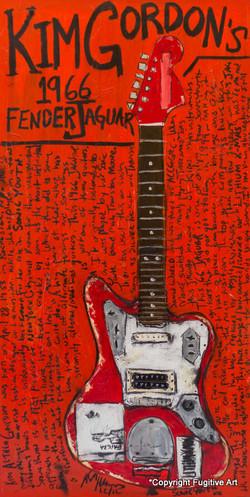 Guitar Art Jaguar Kim Gordon