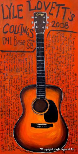 Guitar Art Lyle Lovett Acoustic