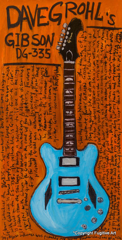Dave Grohl Guitar Art