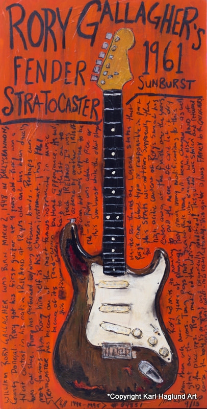 Rory Gallagher Strat Guitar Art