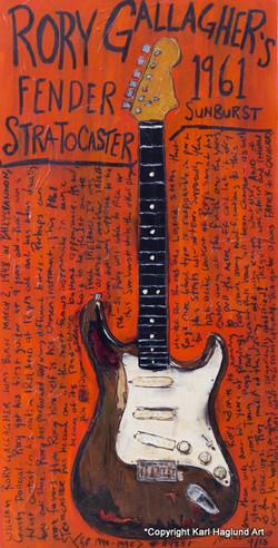 Rory Gallagher Strat Guitar Art