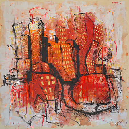 cityscape painting expressionism moderni