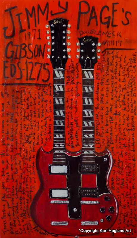 Jimmy Page Guitar Art