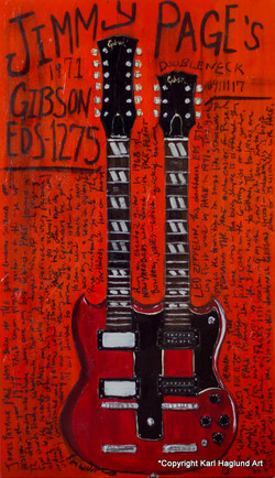 Jimmy Page Guitar Art
