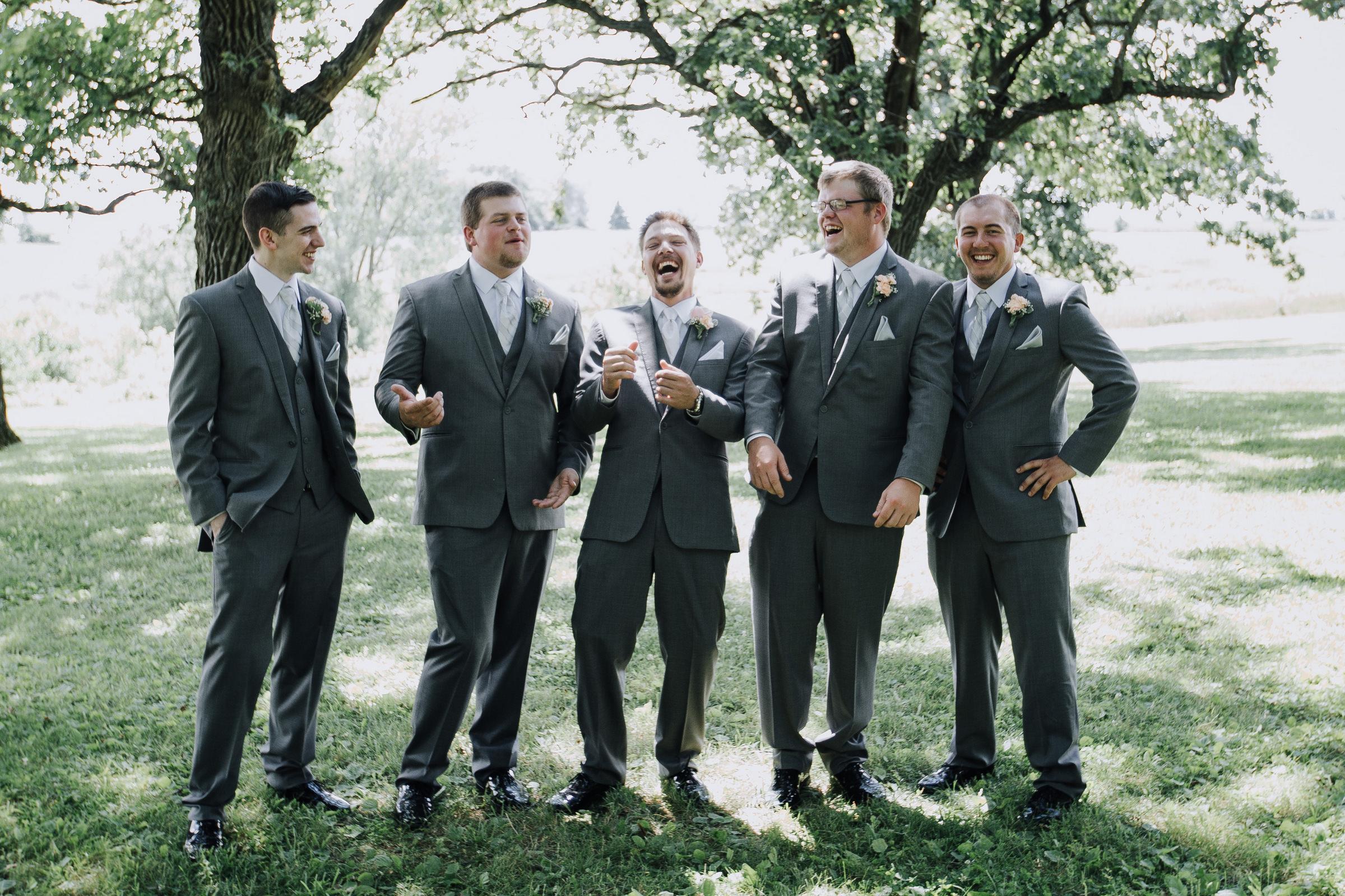 Groomsmen Iowa Wedding