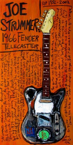 Joe Strummer Tele Guitar Art