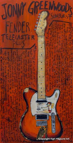 Guitar Art Jonny Greenwood Tele