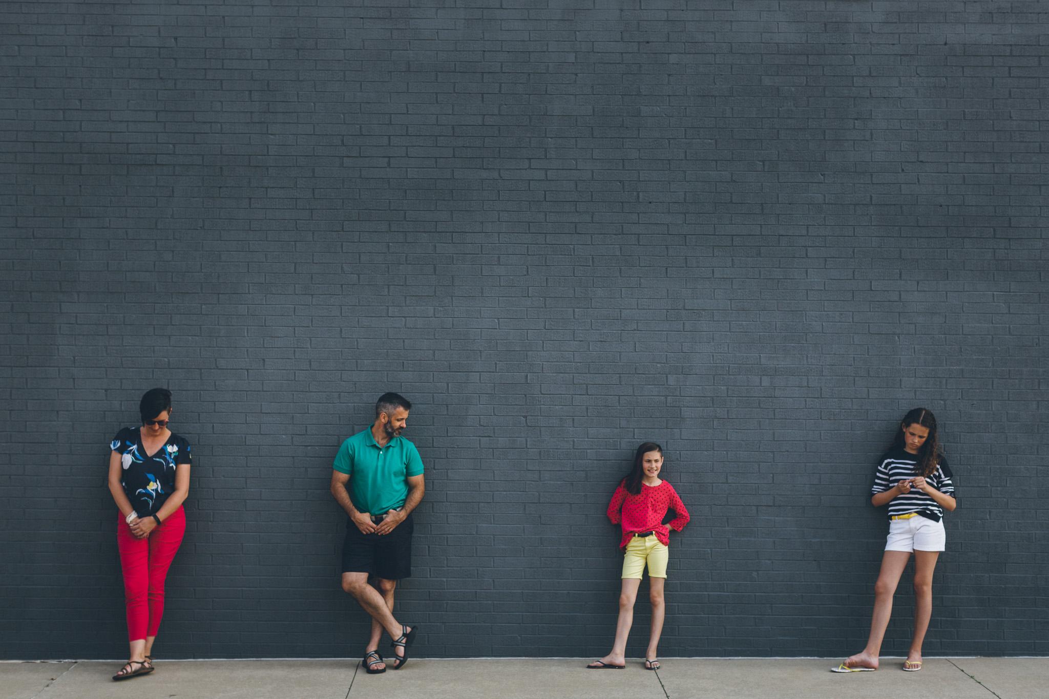 Interesting family portrait Iowa