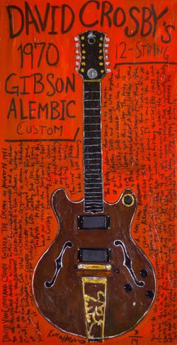 David Crosby Guitar Art