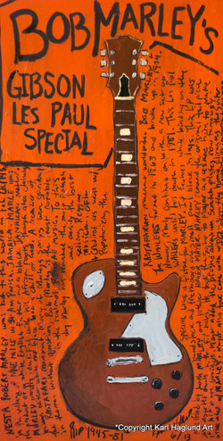 Guitar Art Bob Marley