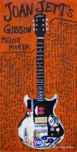 Joan Jett Gibson Guitar Art