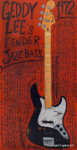 Geddy Lee Jazz Bass Guitar Art