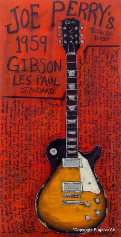 Joe Perry Gibson Les Paul Guitar Art