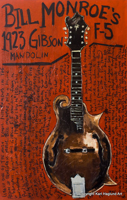 Bill Monroe Mandolin Art