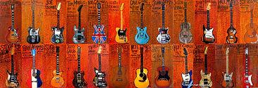 Famous guitar art