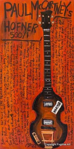 Paul McCartney Hofner bass art